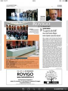 """""""Il Gazzettino di Rovigo"""" 24/05/2015"""