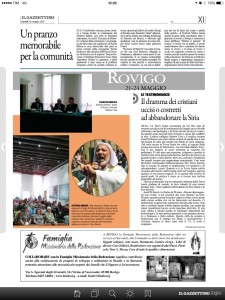 """""""Il Gazzettino di Rovigo"""" 21/05/2015"""